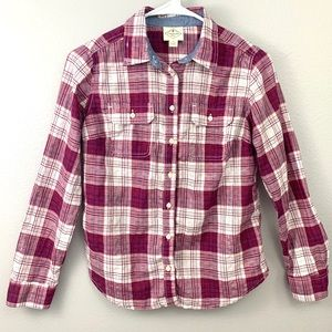 🟣St. John's Bay Plaid Button Down Shirt